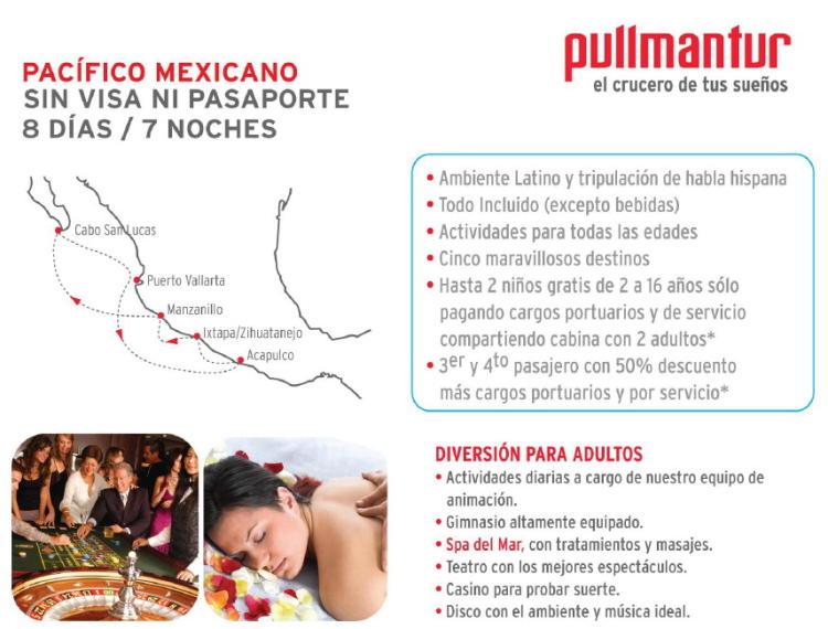 crucero sin visa desde mexico acapulco vallarta