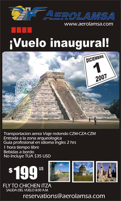 fly to chichen itza