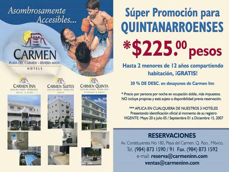hotel carmen inn playa del carmen riviera maya