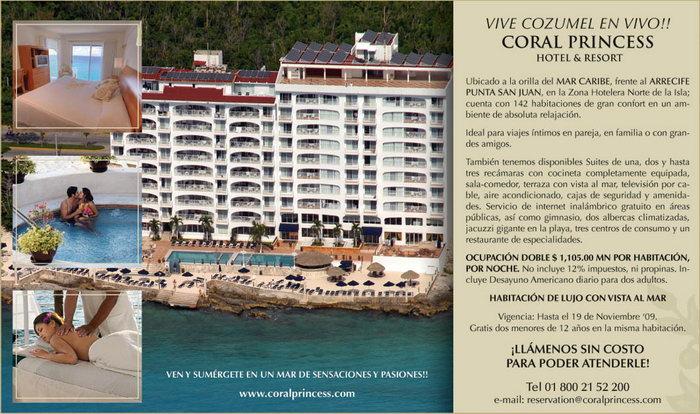 Hotel Coral Principe Promocion Cozumel