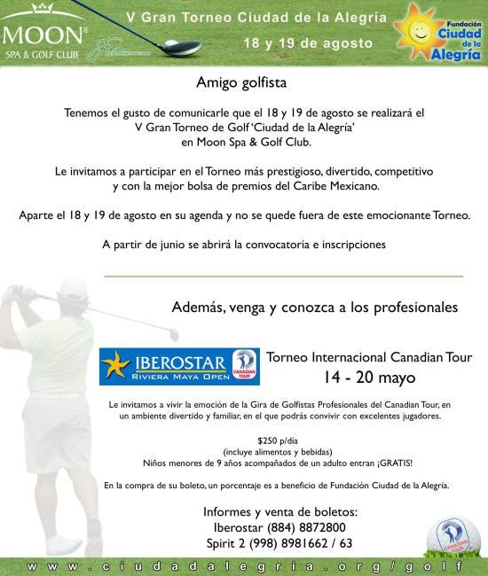 Torneo de golf en Mexico Caribe mexicano Cancun