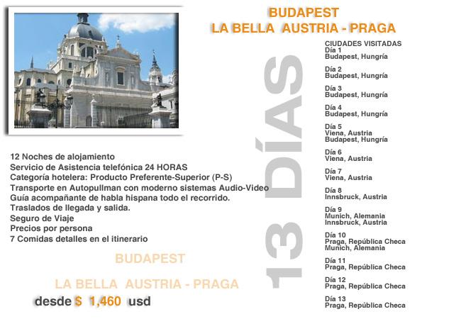 vuelo con destino a Budepest viaje paquete