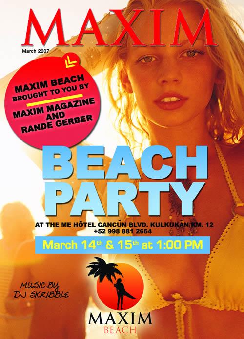 maxims cancun girls beach