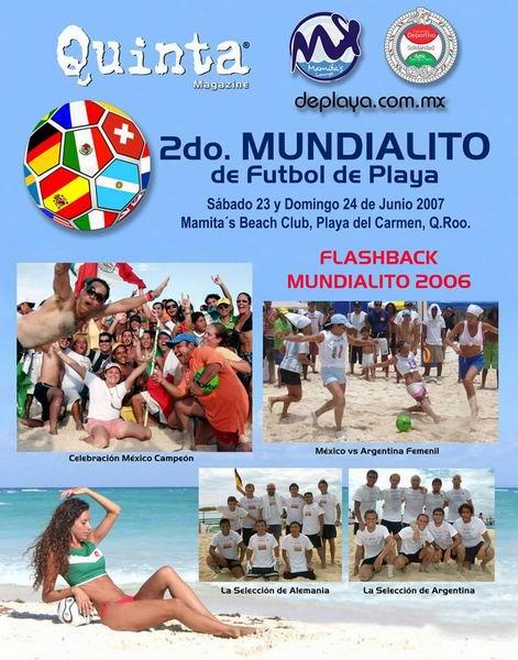 Mundial de futbol de playa del carmen