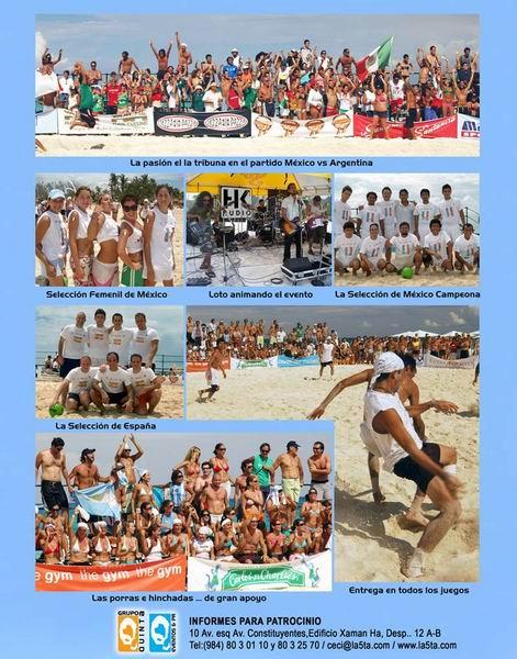 mundial de futbol de playa riviera maya mexico