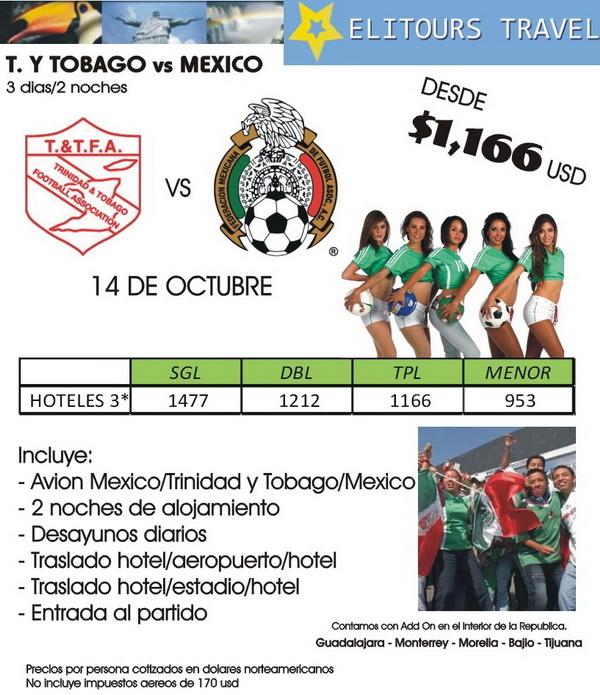 futbol mexico trinidad y tobago