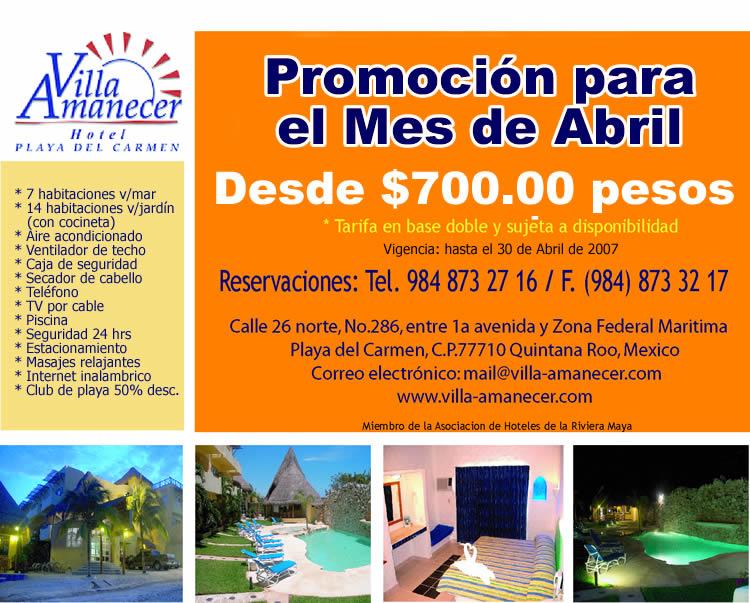 Villa aMANECER ;ROMOCION CANCUNENSE