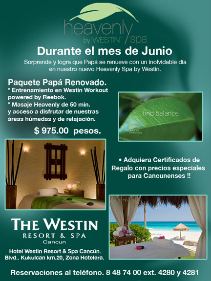 westin spa resort en cancun