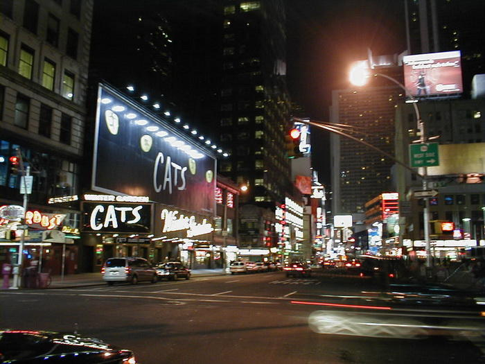 new york broadway de noche