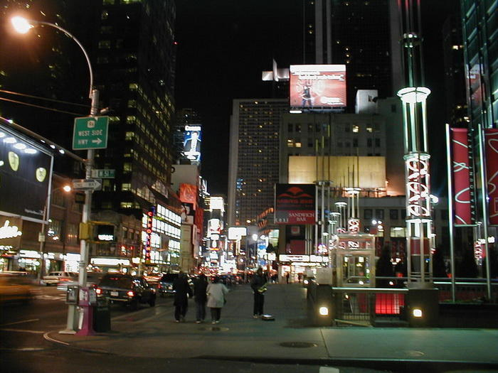 new york broadway night